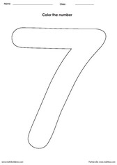 number 7 coloring pages for preschool | Pre - K Math Worksheets – Free Printable PDFs | Math 4 ...